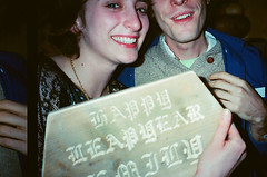 Emily & Jamie (julia fredenburg) Tags: birthday newyork film brooklyn march jamie leapyear contaxtvs 2013 happyleapyear emilylevitt stewartlosee