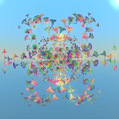 Happy (vivienrk) Tags: blue digital fractal incendia