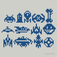 8Bit Space Trip (ShirtRater) Tags: shirt t starwars space tshirt futurama 8bit odyssey firefly invaders tees