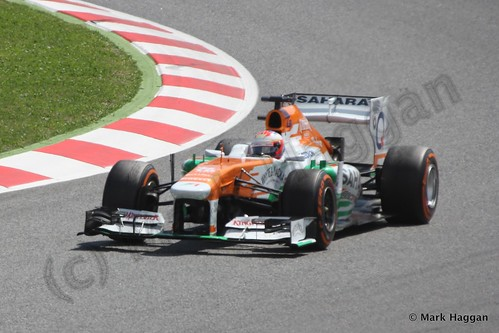 Paul Di Resta in his Force India in the 2013 Spanish Grand Prix