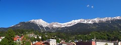 Snow Cap Peaks, Austria (One Hour Process) Tags: blue sky panorama snow ice church beautiful composite pen hotel austria amazing angle wide olympus nuns swarovski peaks innsbruck mountins hillsides optik epl1