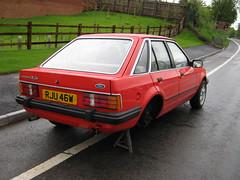 MAY 1981 FORD ESCORT MK3 1296cc GHIA RJU46W (Midlands Vehicle Photographer.) Tags: ford may 1981 escort ghia mk3 1296cc rju46w
