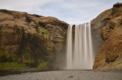 Skgafoss LE (Dennis Sla) Tags: longexposure nature water clouds landscape outside island waterfall iceland nikon sigma sland skgafoss 1750mm nd110 d7000