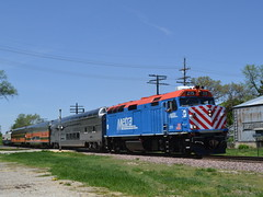The next stop will be: Hampshire? (Robby.Gragg) Tags: hampshire metra 215 f40ph3