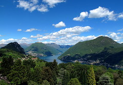 Lake Lugano (PeterCH51) Tags: park blue sky parco white lake nature beautiful clouds lago switzerland tessin ticino day view cloudy lugano carona lakelugano lagodilugano 5photosaday parcosangrato peterch51 flickrtravelaward