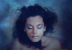 Refuse to sink. (Mandarina Tango) Tags: blue texture silver hair underwater skin floating