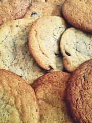 Batch of Cookies (DJVAQ) Tags: light food brown canada color colour cookies yellow contrast photography cuisine lights cool dj bright bokeh chocolate batch creative almond bored calm explore delicious blueberry your chip colourful iphone afterlight yolo vaquilar djvaq