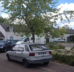 Citroen ZX de 1992 344 TF 37 - 16 mai 2013 (Rue Agnes Sorel - Joue-les-Tours) (Padicha) Tags: auto new old bridge france water grass car station electric truck river french coach ancient automobile eau indre may police voiture ruine cher rest former 37 nouveau et loire quai franais nouvelle vieux herbe vieille ancienne ancien fleuve nationale vehicule lectrique reste gendarmerie gazon indreetloire franaise pave nouveaut vhicule utilitaire restes vgtalise letramdetours padicha
