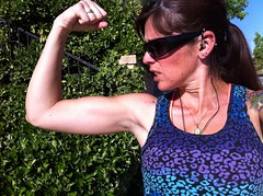 Day 112 (boxbabe86) Tags: woman girl sunglasses jen arm bright muscle may monday fitness fit nofilter iphone saugus scv 365days 2013 getfit instagram uploaded:by=flickrmobile flickriosapp:filter=nofilter