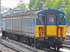 3417 At Clapham Junction 2 (Deepgreen2009) Tags: blue electric yard train railway southern preserved damaged claphamjunction unit 3417 stabled 4vep shoegear