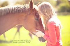 Whispering (Sasha L'Estrange-Bell) Tags: portrait horse green love girl spring chestnuthorse horseylove sashabell oliviabell sashabellphotography