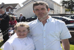 Emily and Paul Dee at the First Holy Communion Day in Ursline