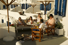 Family holidays - Volcano View Hotel & Villas, Santorini (Volcano View Santorini) Tags: family wedding sunset sea summer holiday caf pool kids breakfast bar dinner private children relax island cuisine restaurant hotel la rooms mediterranean honeymoon  wine deluxe events aegean parties calm romance jacuzzi resort business santorini greece cocktail event international reception caldera massage serenity views meal beaches romantic snacks buffet conferences chic dishes accommodation comfort studios appetizers luxury villas suites cycladic carte fira facilities maisonettes