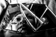 #205 (emifly) Tags: bw selfportrait reflection mirror 365 selfie fragments