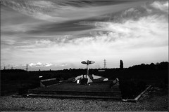 RAF Bradwell Bay Memorial (PaulHP) Tags: white black monochrome bay memorial essex raf bradwell bradwellonsea dengiepeninsula
