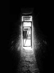 alleyway (Patrick baranowski) Tags: street bw white black alley alleyway passage flickrandroidapp:filter=none