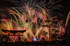 Fireworks Friday - Illuminations (Allen Castillo) Tags: epcot nikon fireworks illuminations worldshowcase japanpavilion d7000 fireworksfriday