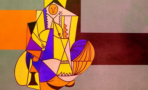 """Odaliscas (Mujeres de Argel) yuxtaposición y deconstrucción de Pablo Picasso (1955), síntesis de Roy Lichtenstein (1963). • <a style=""""font-size:0.8em;"""" href=""""http://www.flickr.com/photos/30735181@N00/8746884467/"""" target=""""_blank"""">View on Flickr</a>"""