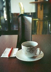 Olympus Pen500 (Chromatic Dreams) Tags: film coffee pen cafe olympus kafe