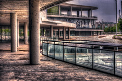 (bardaxi) Tags: espaa photoshop spain nikon expo zaragoza aragon hdr photomatix pabellon