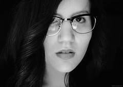 I know you, you know me (Olalla Esquimal) Tags: selfportrait girl face self mouth hair glasses selfie agostoesquiimal