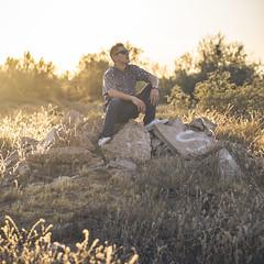 *** (18/365) (Johnny.Angelone) Tags: sunset concrete golden nikon desert hour blocks smashed 18 50 d7000