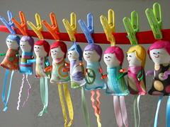 Fabric dolls (Cristali Designs) Tags: girls cute keychain colorful doll handmade crafts charm ornament fabric keyfob minidoll fabricdolls charmdoll cristali