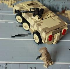 Boxdog APC (Andreas) Tags: lego military apc armoredpersonnelcarrier thepurge legoapc legoarmoredpersonnelcarrier thepurgeusa legocamoapc legodesertapc
