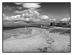 Fleetwood , (wayman2011) Tags: bw clouds coast seaside fleetwood lanscapes fujifilmx10