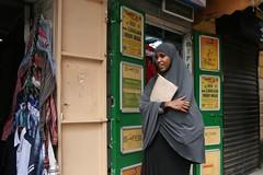 Girl, Nairobi CBD (Tom Spender) Tags: africa city urban kenya nairobi muslim islam religion hijab cbd khimar
