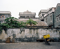 Sanmenli Village (The Lost Egyptian Mau) Tags: trip travel building architecture town traditional lifestyle   cultural guangdongprovince flim     kodakportra400 kaiping  streetshoot  makina67      sanmenlivillage