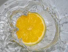 Lemon Splash (abusen) Tags: water yellow lemon splash
