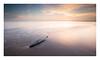 Adrift (A-D-Jones) Tags: wood sun seascape beach set clouds landscape sand warm long exposure waves angle wide floating splash drift crosby merseyside sefton hightown blundellsands