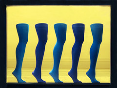 Forward march ! (Batikart) Tags: city blue winter black feet mannequin window colors stockings yellow canon germany geotagged outdoors deutschland foot colorful europa europe day afternoon stuttgart fenster patterns decoration january tranquility schaufenster collection textures stadt repetition shopwindow choice markt ursula onsale assort