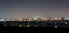 Kitchener Skyline Haze (wide) (Matt M S) Tags: park city school cambridge summer urban ontario canada hot skyline night matt lights hall haze long exposure downtown king cityscape view metro centre central smith kitchener pharmacy waterloo heat area hazy region lofts metropolitan core kw southwestern kaufman td mclennan tricities mattsmith kitchenerwaterloo downtownkitchener kitchenerontario waterlooregion regionofwaterloo kitchenerdowntown kwawesome kitchenerskyline kitchenercityscape dtklove kwontario