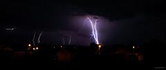 Orage sur la ville (Alexandre LAVIGNE) Tags: storm landscape photography photo pentax ciel nuit ville orage picardie eclairs lightnings foudre saintquentin louisengival mygearandme pentaxk5iis k5iis format2351 format235