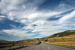 interstate 15 near Santaquin august 2013 (houstonryan) Tags: summer cloud art clouds print landscape photography for landscapes early utah driving skies photographer ryan sale south north houston 15 august photograph freeway late interstate formations freelance based i15 2013 houstonryan