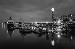 A night at the Quay (jadennyberg) Tags: longexposure blackandwhite night marina dock yacht lonsdalequay