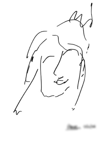 """visiteur23w<br /><span style=""""font-size:0.8em;"""">23-Dessin à l'aveugle représentant l'artiste par son visiteur</span> • <a style=""""font-size:0.8em;"""" href=""""http://www.flickr.com/photos/12564537@N08/9505967011/"""" target=""""_blank"""">View on Flickr</a>"""