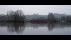 20150123 (mkniebes) Tags: longexposure winter mist castle water river germany haze dusk bochum ruhr dunst burgblankenstein fujinonxf23mm