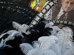 carnival (maximorgana) Tags: carnival white black celebrity film feather number figure font cartagena sergiodalma