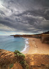 A beach somewhere on the Great Ocean Road (angus clyne) Tags: ocean road park bridge sea cliff sun storm hot london beach stone londonbridge penguin coast sand arch view walk south great reserve wave australia tunnel stack national thunderstorm cave thunder