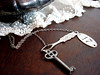 The Haberdasher's Daughter Key Necklace (UrbanHeirlooms) Tags: necklace numbers 17 haberdashery milestone stevienicks seventeen skeletonkeys vintagejewelry urbanheirlooms assemblagejewelry buttonholer edgeofseventeen numbertags