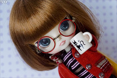 Nerdy (gwennan) Tags: color macro cute colors japan closeup toy doll dal figure junplanning jfigure rotchan