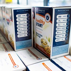 Healthy Start boxes showcase the nutrition content