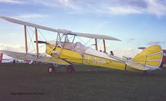 OY-DVP - 1943 build de-Havilland DH.82A Tiger Moth, damaged beyond repair in 1980 (egcc) Tags: leicester east pfarally tigermoth 1979 dehavilland dedis dh82a egbg gipsymajor 85506 oydvp gahut de665