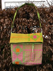 Chicken scratch again (lerusisik) Tags: bag embroidery shoulderbag plaids chickenscratch