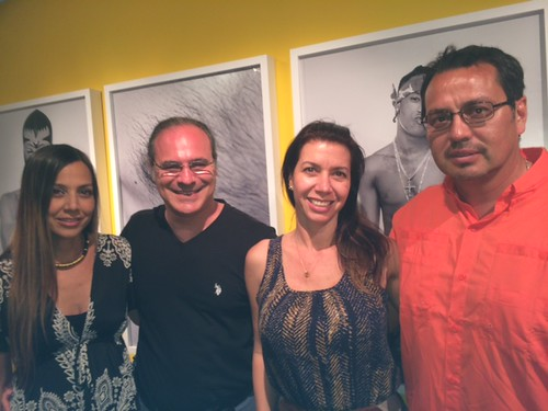 Renee Urbina, Gady Alroy, Ana Vega and Rodrigo Parra enjoy ttheir gallery in the Wynwood building during gallery walk