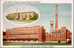Lucky Strike cigarette plant, Richmond, Virginia\American Tobacco Company Research Laboratory
