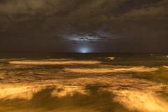 The squid boat (Ian@NZFlickr) Tags: ocean street light beach st lights boat fishing waves pacific squid nz otago dunedin clair